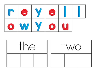 Pre-Primer Sight Word Match & Spell: Magnet Letters