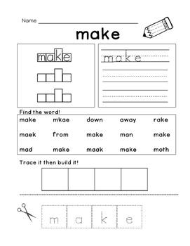 Sight Word: Make