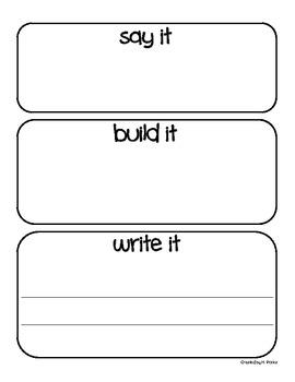 Sight Word Make-It Station (grade 2)