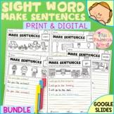 Sight Word Make Sentences Bundle | Print & Digital | Googl