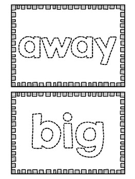Sight Word Maker Mats {Pre-Primer Dolch Words}