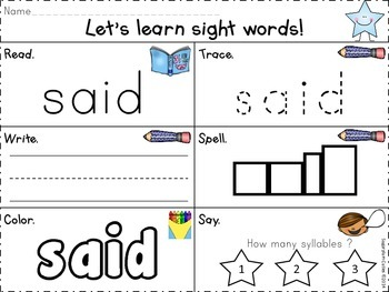 Sight Word Mania {FREEBIE}!