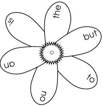Sight Word Blooming Flowers