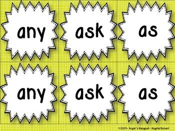 Sight Word Match-Up First Grade Edition