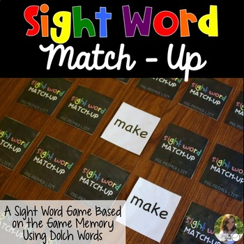 Sight Word Match-Up Game
