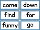 Sight Word Match-Up: Pre-Primer Dolch List