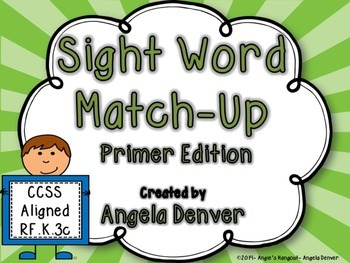 Sight Word Match-Up Primer Edition
