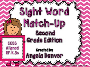 Sight Word Match-Up Second Grade Edition