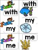 Sight Word Match {snorkeling} CA Treasures Kindergarten