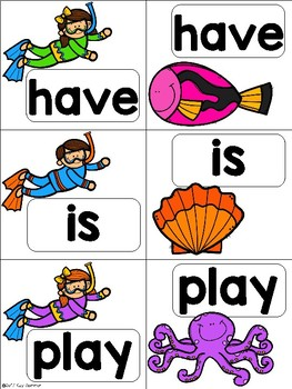 Sight Word Match {snorkeling} CA Treasures Kindergarten