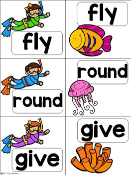 Sight Word Match {snorkeling} Dolch First