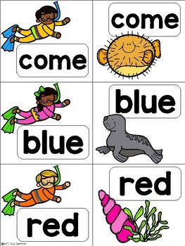 Sight Word Match {snorkeling} Dolch Pre-Primer