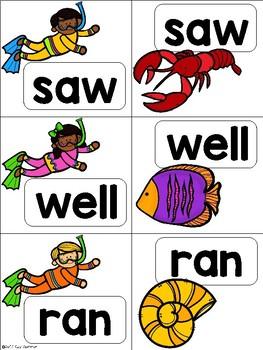Sight Word Match {snorkeling} Dolch Primer