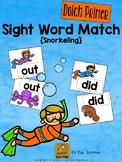 Sight Word Match {snorkeling} Dolch Primer