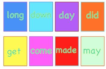 Sight Word Matching Card Game Jumbo Pack