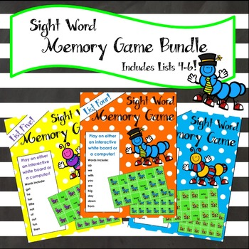 Sight Word Matching Game Bundle 2 - For Whiteboard or Computer