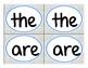 Sight Word Matching Game Sample