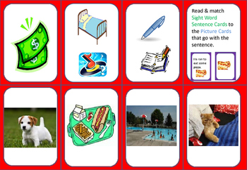 Sight Word Matching Game (set 3) with Student Tracking Sheet and Lists
