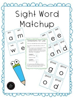 Sight Word Puzzle - 99 Sight words to match