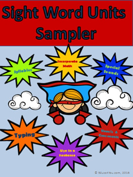 Sight Word Units With Multiple Skills Practice - SAMPLER