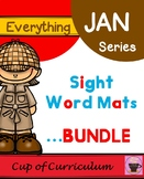 Sight Word Mats BUNDLE A-C
