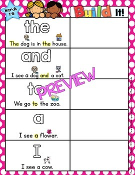Sight Word Mats: DOLCH BUNDLE