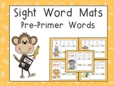 Sight Word Mats- Dolch Pre-Primer Words- Jungle Animals Theme