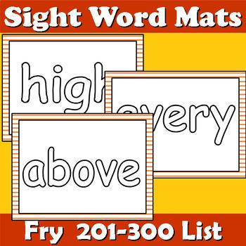 Sight Word Mats Fry 201-300