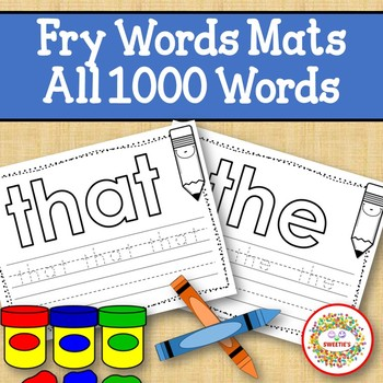 Sight Word Mats: Fry Sight Words - All 1000 Words