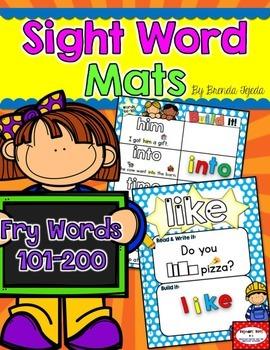 Sight Word Mats: Fry Words 101-200