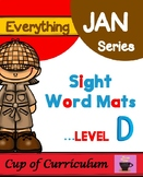 Sight Word Mats Level D