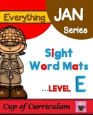 Sight Word Mats Level E