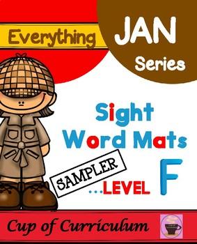 Sight Word Mats Level F SAMPLER
