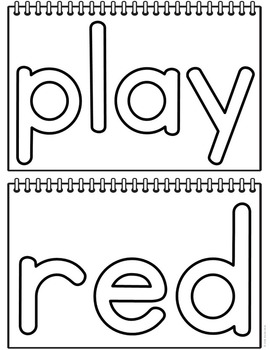Sight Word Play Dough Mats - Pre-Primer