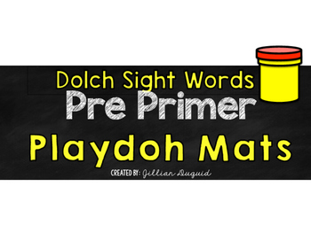 Sight Word Playdoh Mats ~ Flash Cards {Pre Primer and Primer Dolch Words}