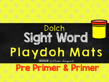 Sight Word Playdoh Mats ~ Flash Cards {Pre Primer and Prim