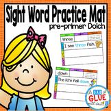 Sight Word Mats: Pre-Primer