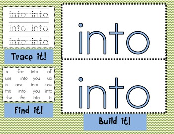 Sight Word Mats for Fry's List of Sight Words SET 3 {51-75}