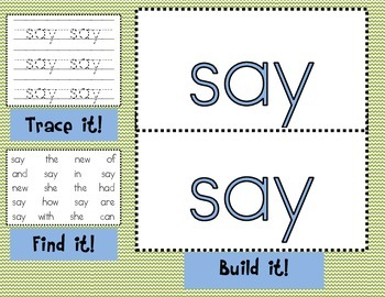 Sight Word Mats for Fry's List of Sight Words SET 6 {126-150}