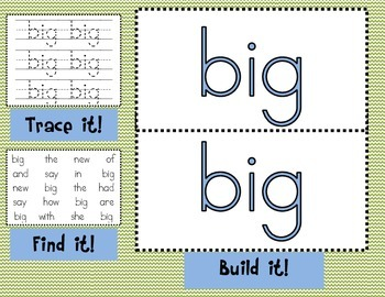 Sight Word Mats for Fry's List of Sight Words SET 7 {151-175}