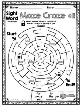 Sight Word Practice Bundle