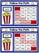 Sight Word Maze Cards - Popcorn Mazes - Editable