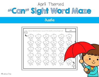 Sight Word Maze for April Freebie