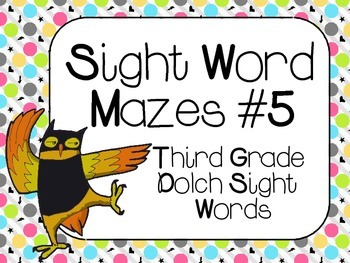 Sight Word Mazes Set #5