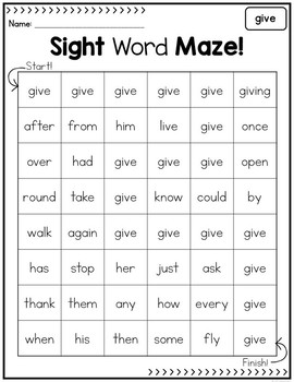 Sight Word Mazes Bundle