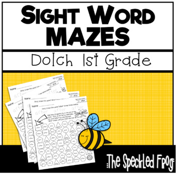 Sight Word Activity - Mazes - Dolch 1st Grade Words