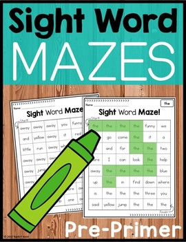 Sight Word Mazes - Pre-Primer