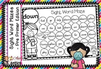 Sight Word Mazes - Pre Primer Edition