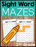 Sight Word Mazes - Second Grade