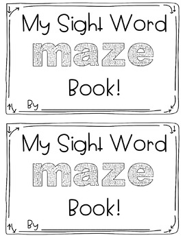 Sight Word Mazes: Second Grade FREEBIE!